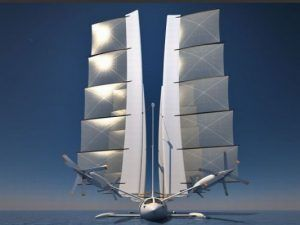 yelken octuri1 533x400 300x225 Yacht + Plane: The Flying Trimaran Sailing Yacht Concept