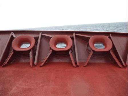 Chocks on Oil Tankers